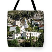 Dhermi Traditional Village View In Southern Albania Tote Bag