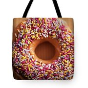 Donut And Sprinkles Tote Bag