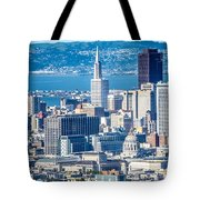 Downtown San Francisco City Street Scenes And Surroundings Tote Bag
