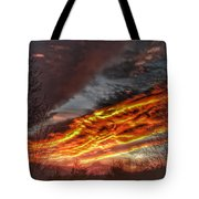 Dramatic Skies Great Smoky Mountains Nc At Sunset In Winter Tote Bag