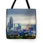 Dramatic Sky And Clouds Over Charlotte North Carolina Tote Bag