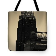 Early Morning Sunrise Over Charlotte North Carolina Skyscrapers Tote Bag