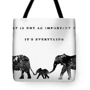 Elephant Family-black Tote Bag
