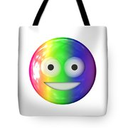 Emoticon Plastic Face Tote Bag