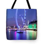 Ferris Wheel At The Waterfront Tote Bag