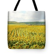 Field With Sunflowers Tote Bag