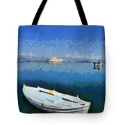 Fishing Boats In Nafplio Town Tote Bag