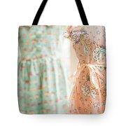Floral Pattern Young Girl Dresses In Shop Tote Bag