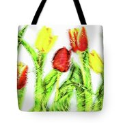 Flower Frame Border Tote Bag