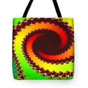Fractal Floral Pattern Tote Bag