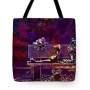Frogs Yoga Bank Bench Relaxed  Tote Bag