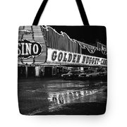 Golden Nugget Casino At Night In The Rain Las Vegas Nevada 1979 Tote Bag