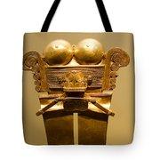 Golden Pre-columbian Figure Tote Bag