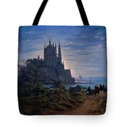 Gothic Church On A Rock By The Sea  Tote Bag