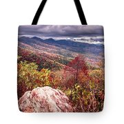 Graveyard Fields Overlook In The Smoky Mountains In North Caroli Tote Bag