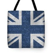 Great Britain Denim Flag Tote Bag