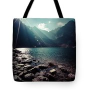 Green Water Mountain Lake Morskie Oko, Tatra Mountains, Poland Tote Bag