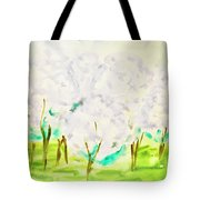 Hand Painted Picture, Spring Garden Tote Bag