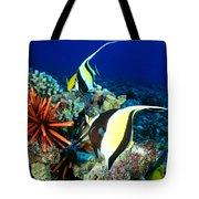 Hawaiian Reef Scene Tote Bag