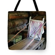 Historic Log Trappers Cabin Tote Bag