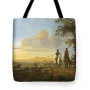 Horsemen And Herdsmen With Cattle Tote Bag