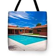 House And Pool Tote Bag
