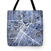 Houston Texas City Street Map Tote Bag