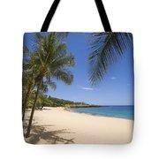 Hulopoe Beach, Palm Tree Tote Bag