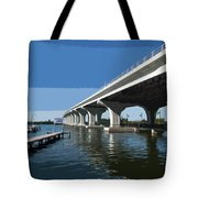 Indian River Lagoon At Vero Beach In Florida Tote Bag