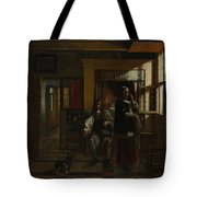 Interior With A Young Couple Tote Bag