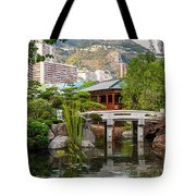 Japanese Garden In Monte Carlo Tote Bag