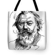 Johannes Brahms 1833-1897 Tote Bag