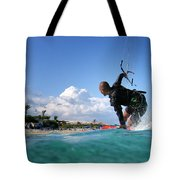 Kitesurfing Tote Bag by Stelios Kleanthous