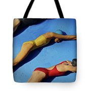 3 Lady Swimmers Tote Bag