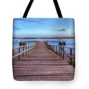 Lake Pier - England Tote Bag