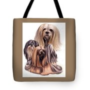Lhasa Apso Triple Tote Bag