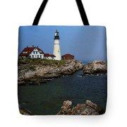Lighthouse - Portland Head Maine Tote Bag by Frank Romeo