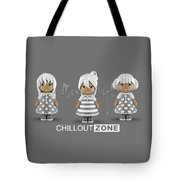 3 Little 3d Girls In Chilloutzone Tote Bag