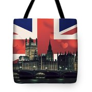 London Cityscape With Big Ben Tote Bag