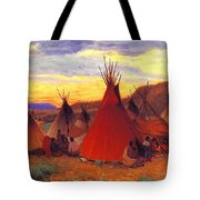 lrs Sharp Joseph Henry Evening Crow Reservation Joseph Henry Sharp Tote Bag
