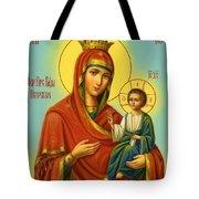 Madonna Enthroned Art Tote Bag