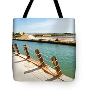Main Canal - Trapani Salt Flats Tote Bag