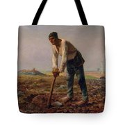 Man With A Hoe Tote Bag