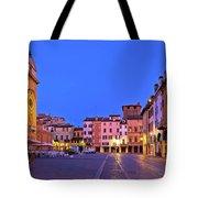 Mantova City Piazza Delle Erbe Evening View Panorama Tote Bag