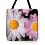 Marguerite Daisy Named Petite Pink Tote Bag