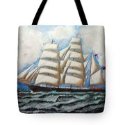 3 Master Tall Ship Tote Bag
