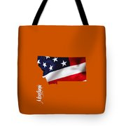 Montana State Map Collection Tote Bag