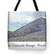 Mount Baker, Cascade Range, Washington State Tote Bag