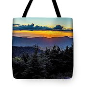 Mount Mimtchell Sunset Landscape In Summer Tote Bag