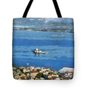 Nafplio Town And Bourtzi Fortress Tote Bag